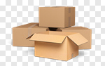 Сlipart Box Moving Office Moving House Packaging Cardboard Box 3d cut out BillionPhotos
