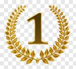 Сlipart Award First Place Gold Number 1 Winning 3d cut out BillionPhotos