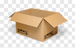 Сlipart Box Moving House Open Empty Shipping 3d cut out BillionPhotos