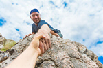 Сlipart Rock Climbing Mountain Climbing Hiking Assistance A Helping Hand photo  BillionPhotos