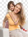 Сlipart mom daughter mother smile child photo cut out BillionPhotos