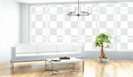 Сlipart Window Living Room Indoors White Domestic Room 3d cut out BillionPhotos