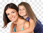 Сlipart Mother Child Family Smiling Daughter photo cut out BillionPhotos