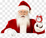 Сlipart Santa Claus Christmas Clock Frame Time photo cut out BillionPhotos
