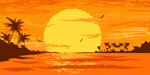 Сlipart Palm Tree Sunset Tree Tropical Climate Retro Revival vector  BillionPhotos