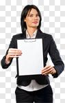Сlipart Holding Business Sign Clipboard Women photo cut out BillionPhotos