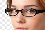 Сlipart Glasses Eyewear Women wearing Human Eye photo cut out BillionPhotos