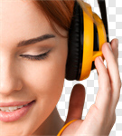 Сlipart Music Headphones Listening Women Serene People photo cut out BillionPhotos