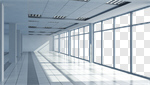 Сlipart Office Window Corridor Indoors Open 3d cut out BillionPhotos