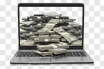 Сlipart Currency Computer E-Mail Internet Laptop 3d cut out BillionPhotos