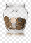 Сlipart Coin Jar Currency Savings Glass photo cut out BillionPhotos