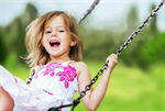 Сlipart Playing Child Playground Little Girls Swing Laughing   BillionPhotos