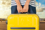 Сlipart hand holds suitcase woman travel airport leaving   BillionPhotos