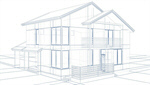 Сlipart Blueprint House Three-dimensional Shape Sketch Drawing 3d  BillionPhotos