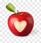 Сlipart Heart Shape Apple Love Healthy Eating Healthy Lifestyle photo cut out BillionPhotos