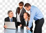 Сlipart Business Meeting Business Person Computer Teamwork photo cut out BillionPhotos