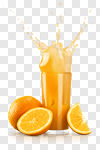 Сlipart Orange Juice Juice Splashing Orange Fruit photo cut out BillionPhotos
