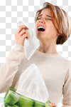 Сlipart Sneezing Allergy Cold And Flu Coughing Women photo cut out BillionPhotos