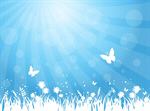 Сlipart Backgrounds Butterfly Spring Flower Grass vector  BillionPhotos