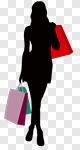 Сlipart Shopping Women Silhouette Bag Female vector cut out BillionPhotos