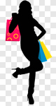 Сlipart Shopping Women Silhouette Bag Female vector cut out BillionPhotos