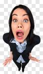 Сlipart Fear Surprise Terrified Emotional Stress Women photo cut out BillionPhotos