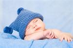 Сlipart Newborn Baby Sleeping Yellow Blanket photo  BillionPhotos