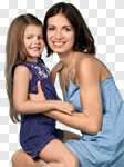 Сlipart Mother Child Family Cheerful Daughter photo cut out BillionPhotos