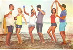 Сlipart Beach Party Summer Dancing Teenager   BillionPhotos