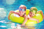 Сlipart Kid in swimming pool water park slide aquapark   BillionPhotos