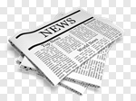 Сlipart Newspaper The Media Newspaper Headline Paper Announcement Message 3d cut out BillionPhotos