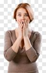 Сlipart Women Fear Shock Worried Displeased photo cut out BillionPhotos
