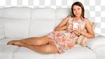 Сlipart Sofa Women Window Sitting Coffee photo cut out BillionPhotos