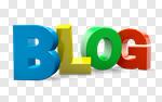 Сlipart Blog Symbol  Multi Colored Single Word 3d cut out BillionPhotos