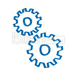 Сlipart gear cog wheel engineering cogwheel vector icon cut out BillionPhotos