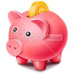 Сlipart piggy bank money box money-box pig coin bank vector icon cut out BillionPhotos