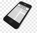 Сlipart Newspaper The Media Mobile Phone Telephone Smart Phone 3d cut out BillionPhotos