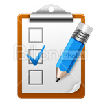 Сlipart check checkbox checklist document aspirations vector icon cut out BillionPhotos