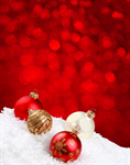 Сlipart Christmas Backgrounds Snow Christmas Ornament Red photo  BillionPhotos