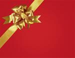 Сlipart Bow Gift Ribbon Christmas Gold   BillionPhotos
