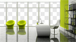 Сlipart Office Contemporary Window Indoors Sparse 3d cut out BillionPhotos