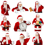 Сlipart Santa Claus Christmas Clock Frame Time   BillionPhotos
