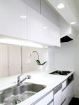 Сlipart kitchen white stove island contemporary photo  BillionPhotos