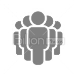 Сlipart People Group of People Community Friendship Connection vector icon cut out BillionPhotos