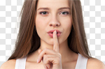 Сlipart secret shh finger mouth silence photo cut out BillionPhotos