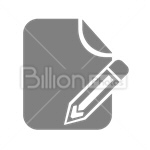 Сlipart Pencil Paper new document blank paper new letter vector icon cut out BillionPhotos