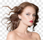 Сlipart Fashion Model Beauty Women Brown Hair Beautiful photo cut out BillionPhotos