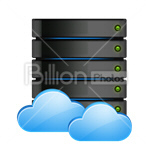 Сlipart server data cloud cloud server rack vector icon cut out BillionPhotos