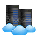 Сlipart Cloud Cloud Computing Network Server Data Exchange vector icon cut out BillionPhotos