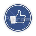 Сlipart Thumbs Up like like symbol thumbs social networking vector icon cut out BillionPhotos